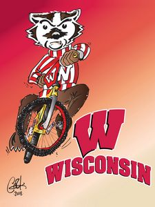 Bucky the BMXin' Badger
