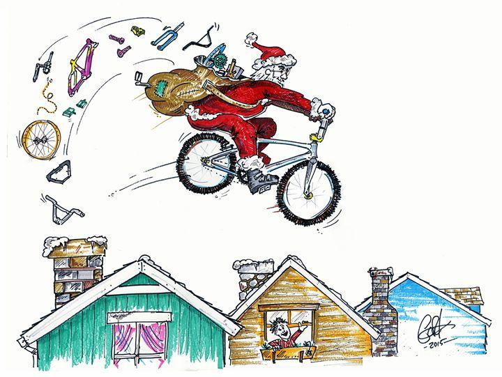 Reindeer were sick, sled was broke. - gOrk's BMX Art