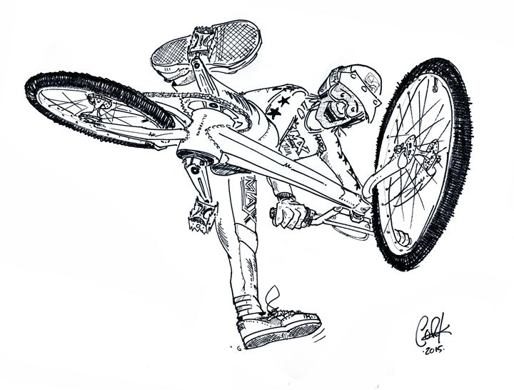 BMX Action Trick Team B&W - gOrk's BMX Art