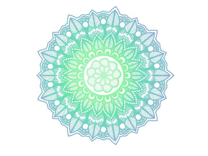 Blue Mandala - Art By Rhi Rhi
