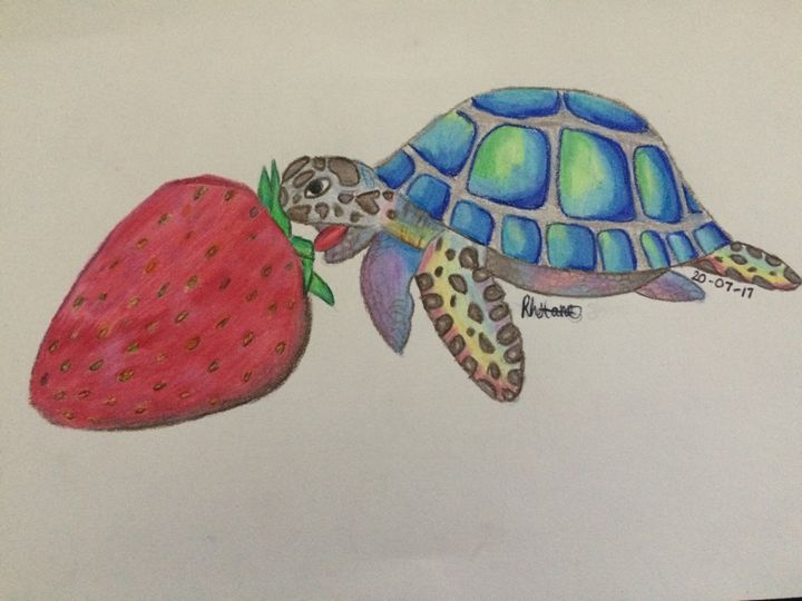 Hungry turtle - Art By Rhi Rhi