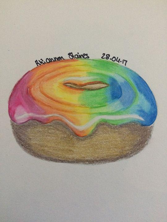 Rainbow donut - Art By Rhi Rhi