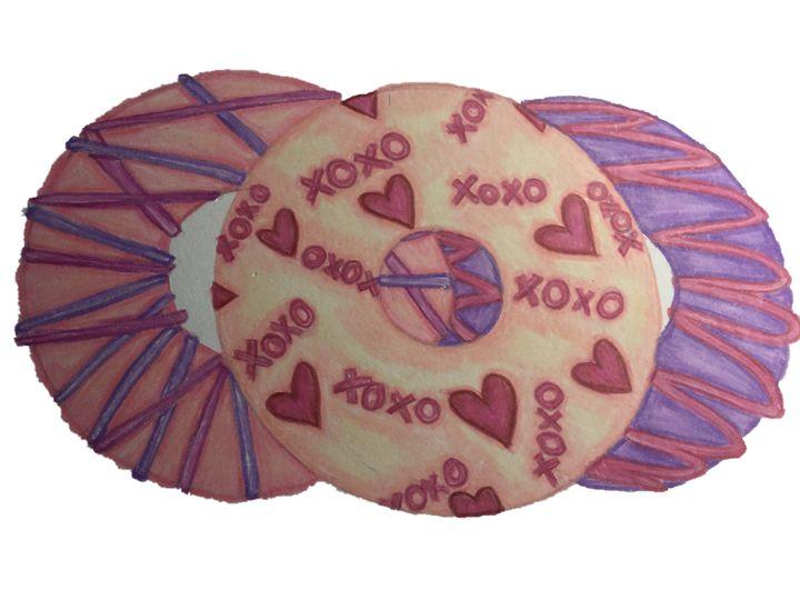Valentines donut - Art By Rhi Rhi