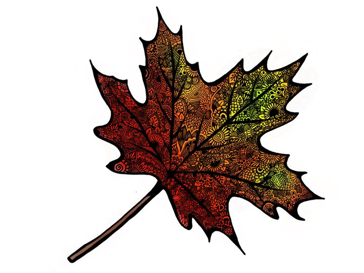 Mandala leaf - Art By Rhi Rhi