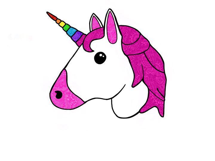 unicorn mandala  emoji - Art By Rhi Rhi