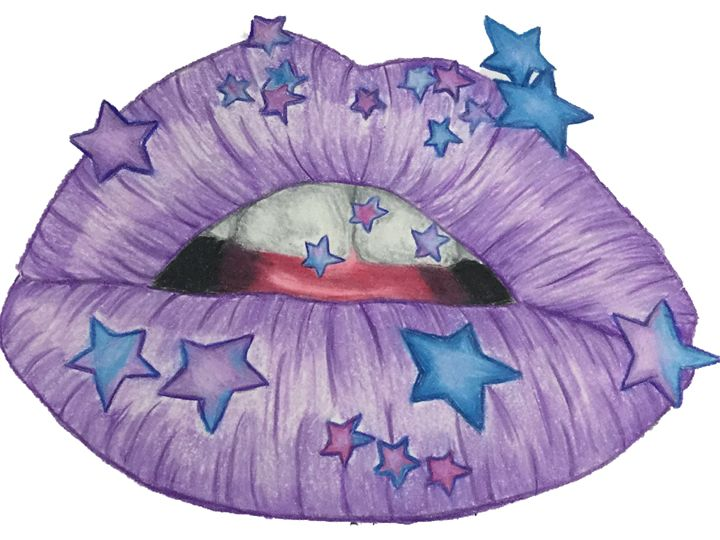 Purple Star lips - Art By Rhi Rhi