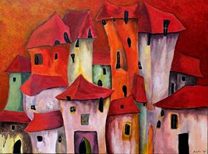 Red houses