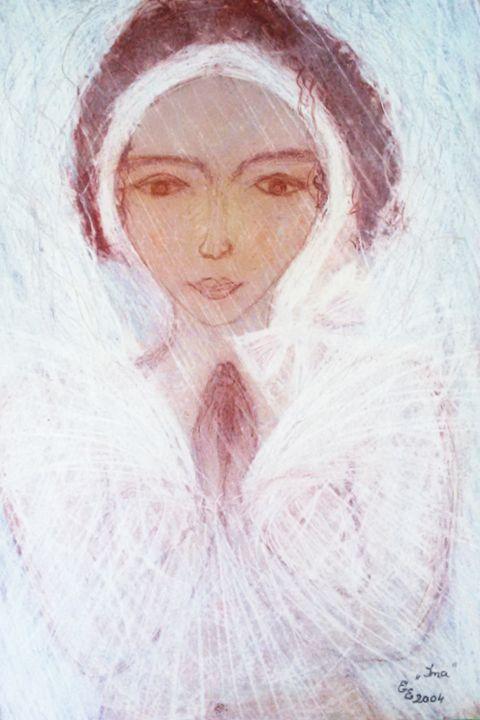 Pray - engierzsi's oil-chalk drawings