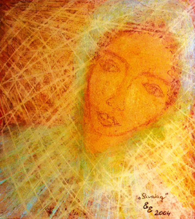 Desert - engierzsi's oil-chalk drawings