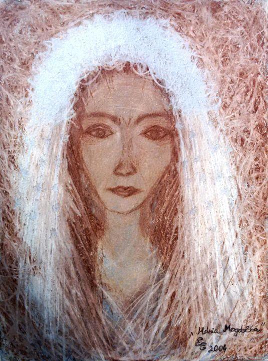 Maria Magdolna - engierzsi's oil-chalk drawings