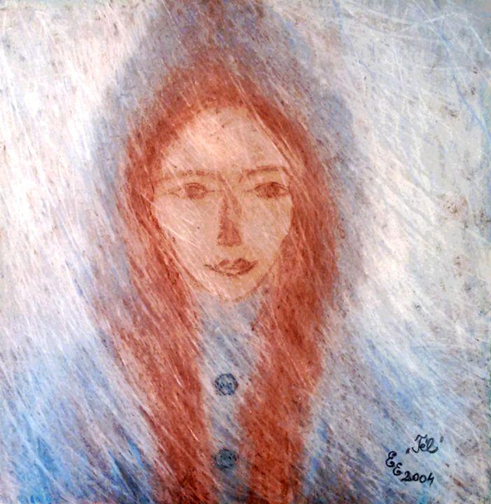Winter - engierzsi's oil-chalk drawings