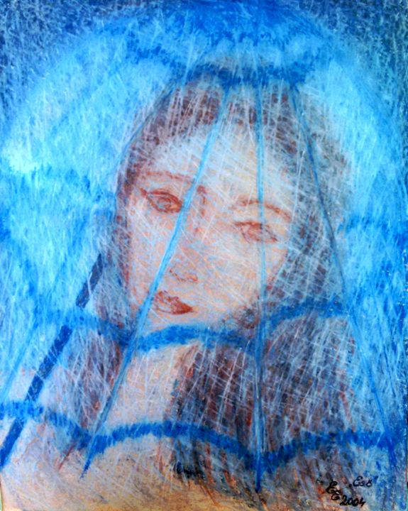 Rain - engierzsi's oil-chalk drawings