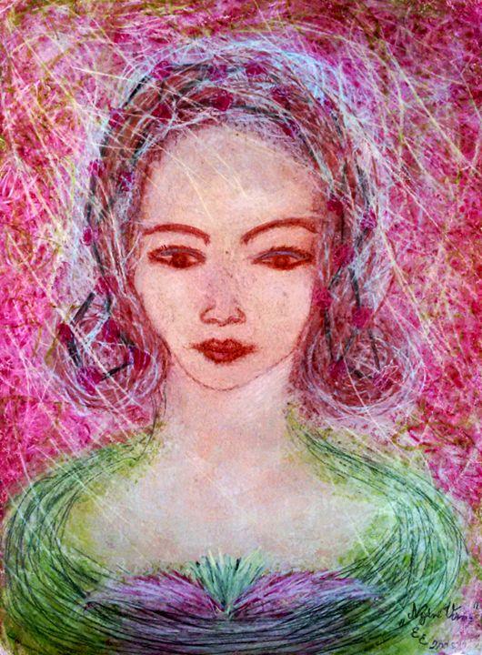Summer flower - engierzsi's oil-chalk drawings