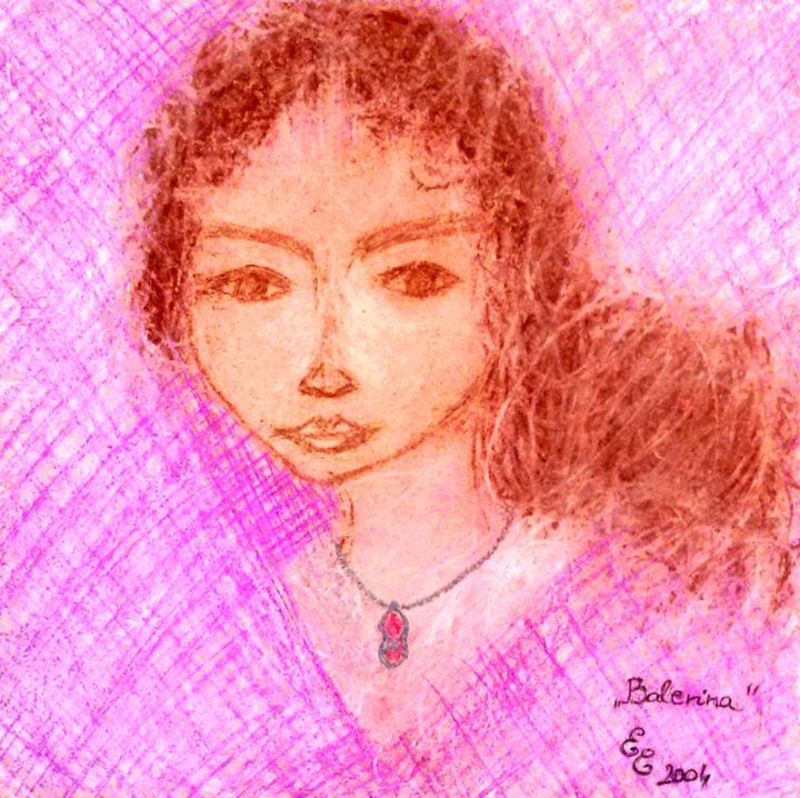 Ballerina - engierzsi's oil-chalk drawings