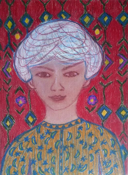 Turkish boy - engierzsi's oil-chalk drawings