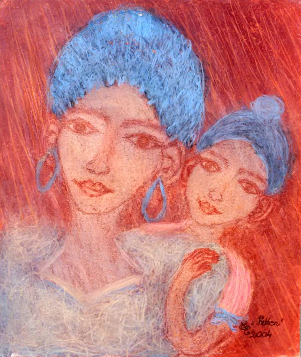 Together - engierzsi's oil-chalk drawings