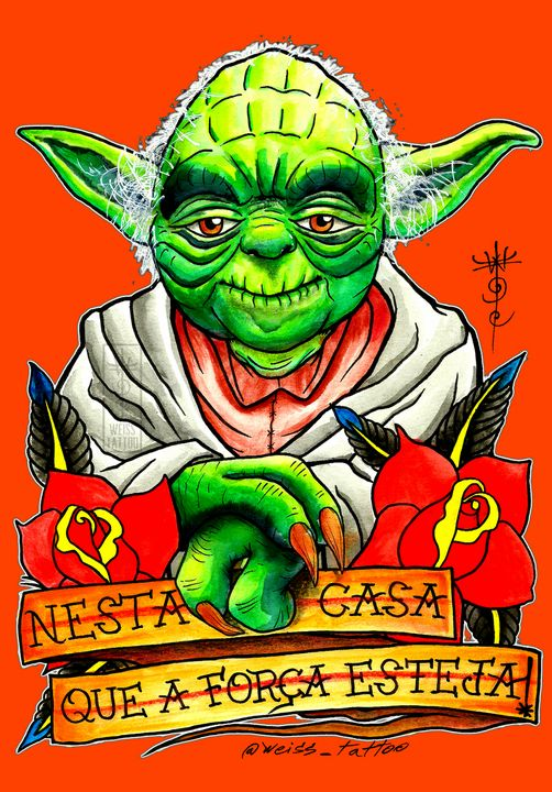 Yoda Master 9 - WEISS TATTOO