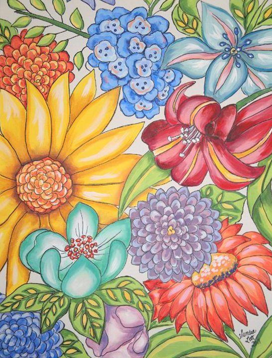 Abstract Floral - Sandra Lett