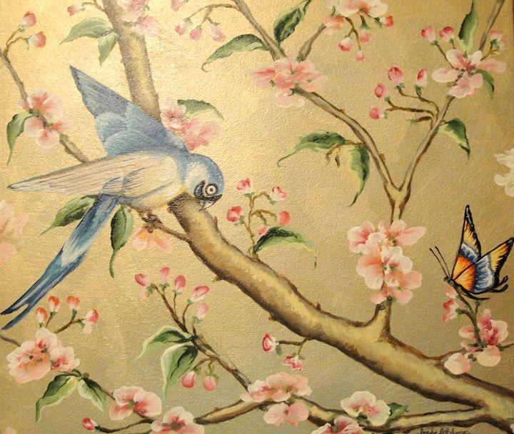 Oriental Bird and Butterfly - Sandra Lett