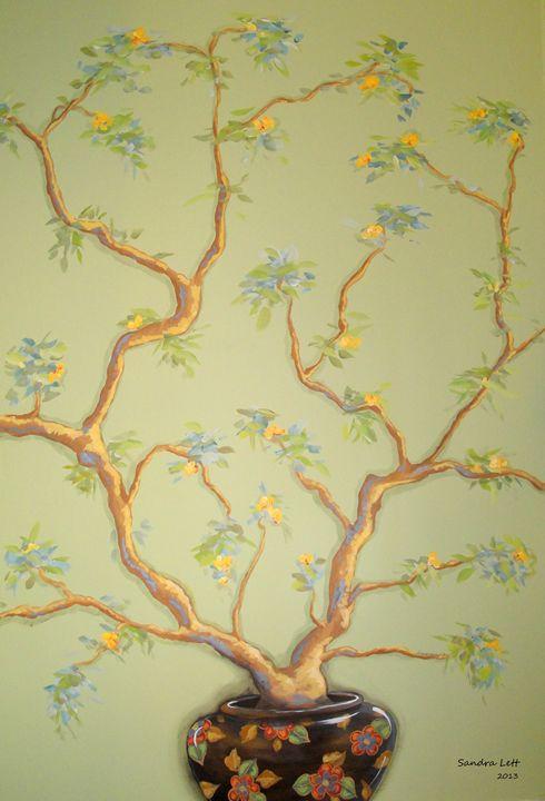Tree in Oriental Vase - Sandra Lett