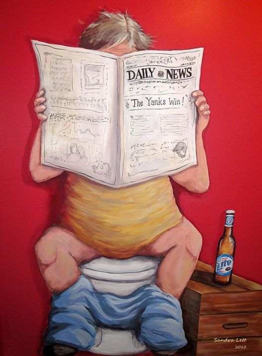 Man Toilet Reading - Sandra Lett
