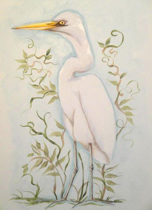 White Egret - Sandra Lett