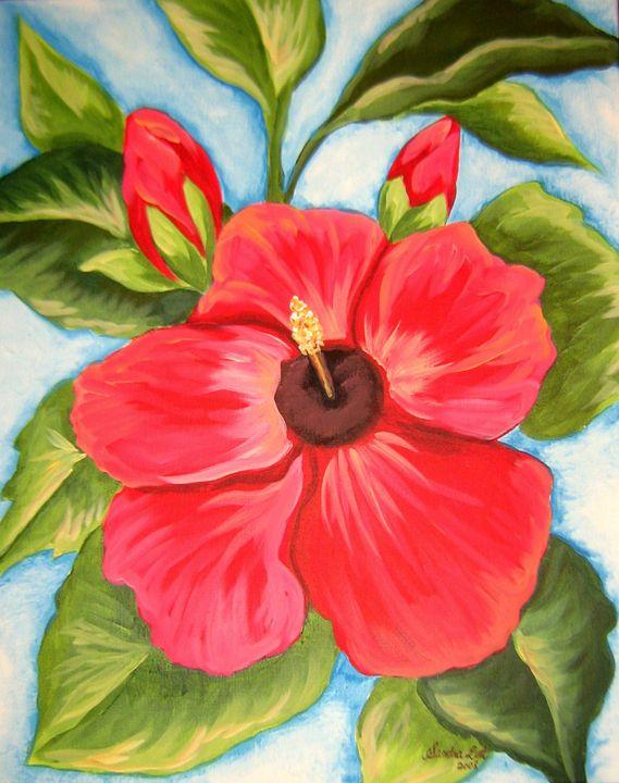 Red Hibiscus - Sandra Lett