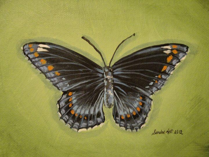 Butterfly on Green - Sandra Lett