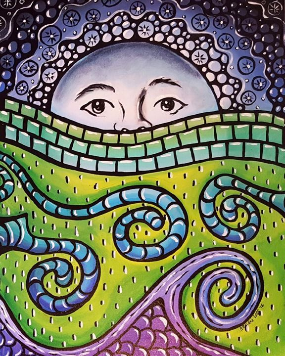 Moonscape Mosaic - Sandra Lett