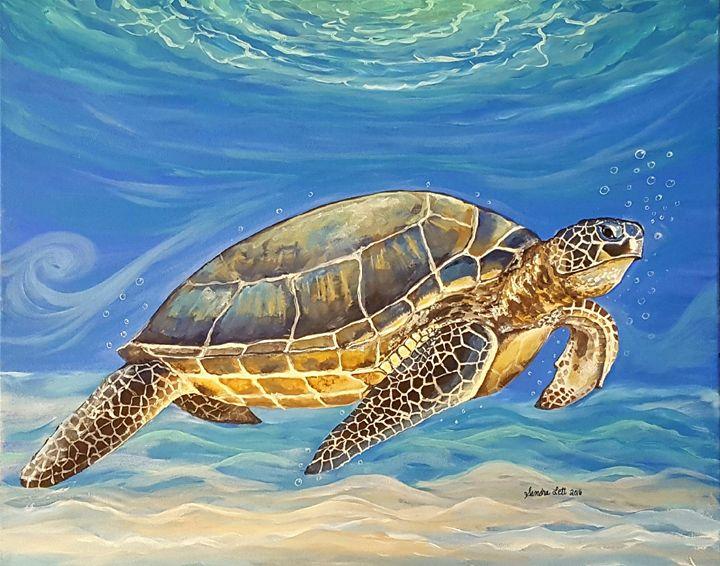 Sea Turtle - Sandra Lett