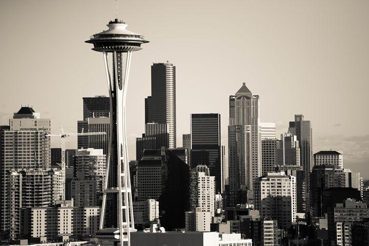 Seattle Skyline - The Art of Mirrored Light