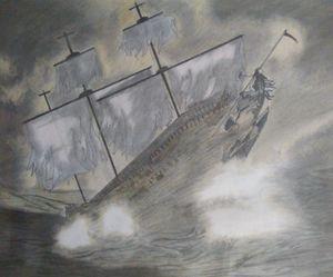 The sea storm