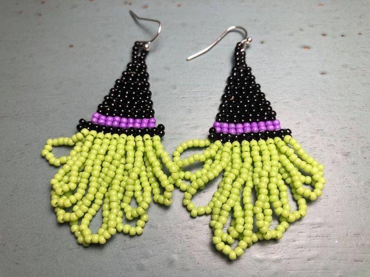 Witch's Hat Fringe Earrings - SilverStarMountain