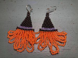 Witch's Hat Fringe Earrings