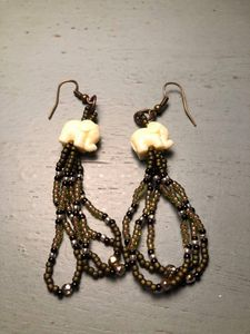 Sweet Elephant fringe earrings