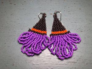 Halloween Fringe Earrings
