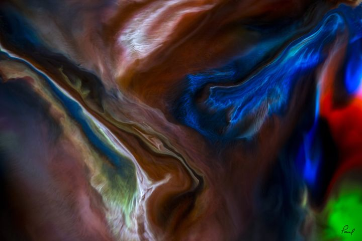 Liquid Lightning #1 - An Abstract World - Artwork by Paul Steele