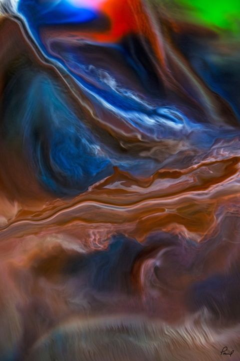 Liquid Lightning #3 - An Abstract World - Artwork by Paul Steele