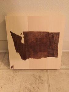 statehood woodstain art - The Bittersweet Canvas