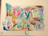 "11x14"" love oregon"