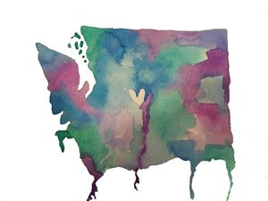 Statehood watercolor - The Bittersweet Canvas