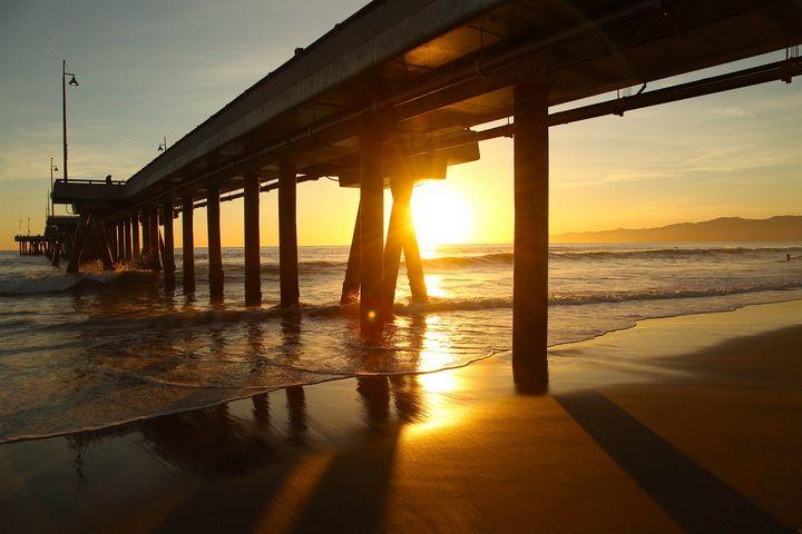 Venice Beach Pier at Sunset - Jon Moore