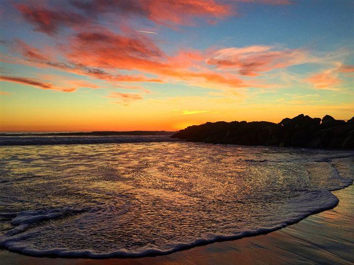 Sunset at Venice Breakwater - Jon Moore