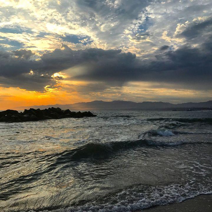 Sunset at Breakwater - Jon Moore
