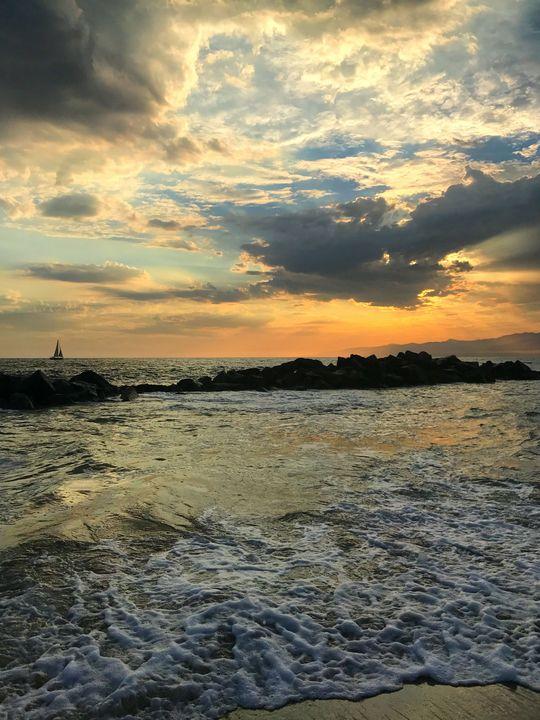 Venice Breakwater at Sunset - Jon Moore