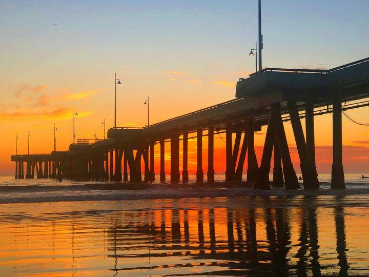 Fall Sunset at Venice Beach Pier - Jon Moore