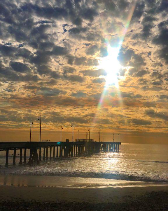Fall Sunset at Venice Pier - Jon Moore