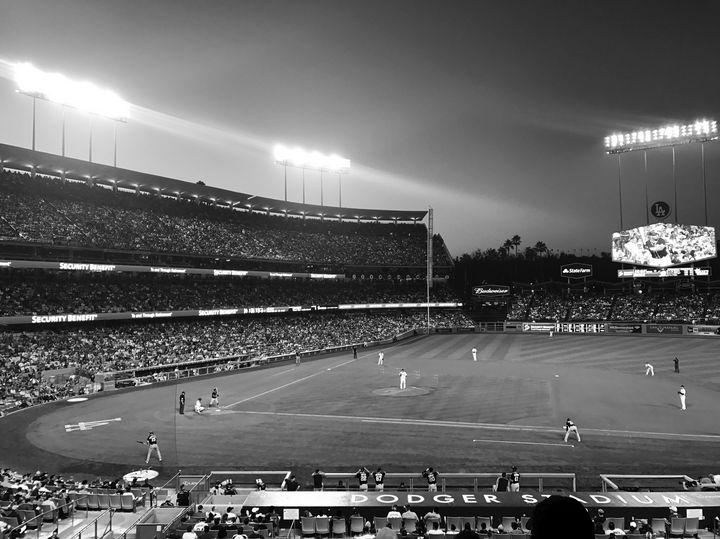 Dodgers Stadium 2017, Black & White - Jon Moore