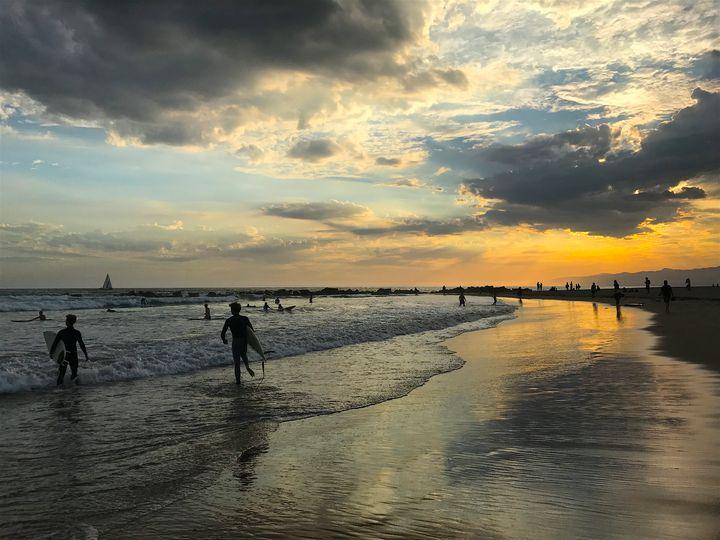 Venice Beach Breakwater at Sunset - Jon Moore
