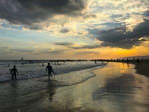 Venice Beach Breakwater at Sunset